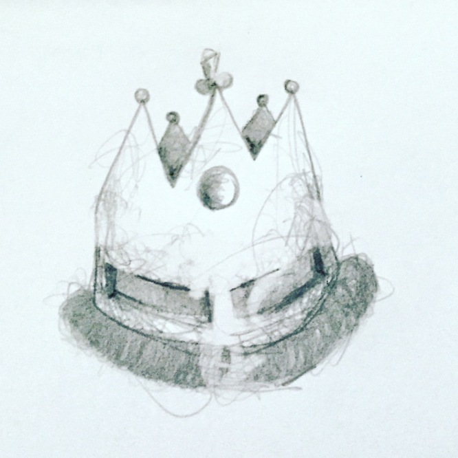 crown 2020, pencil on paper
