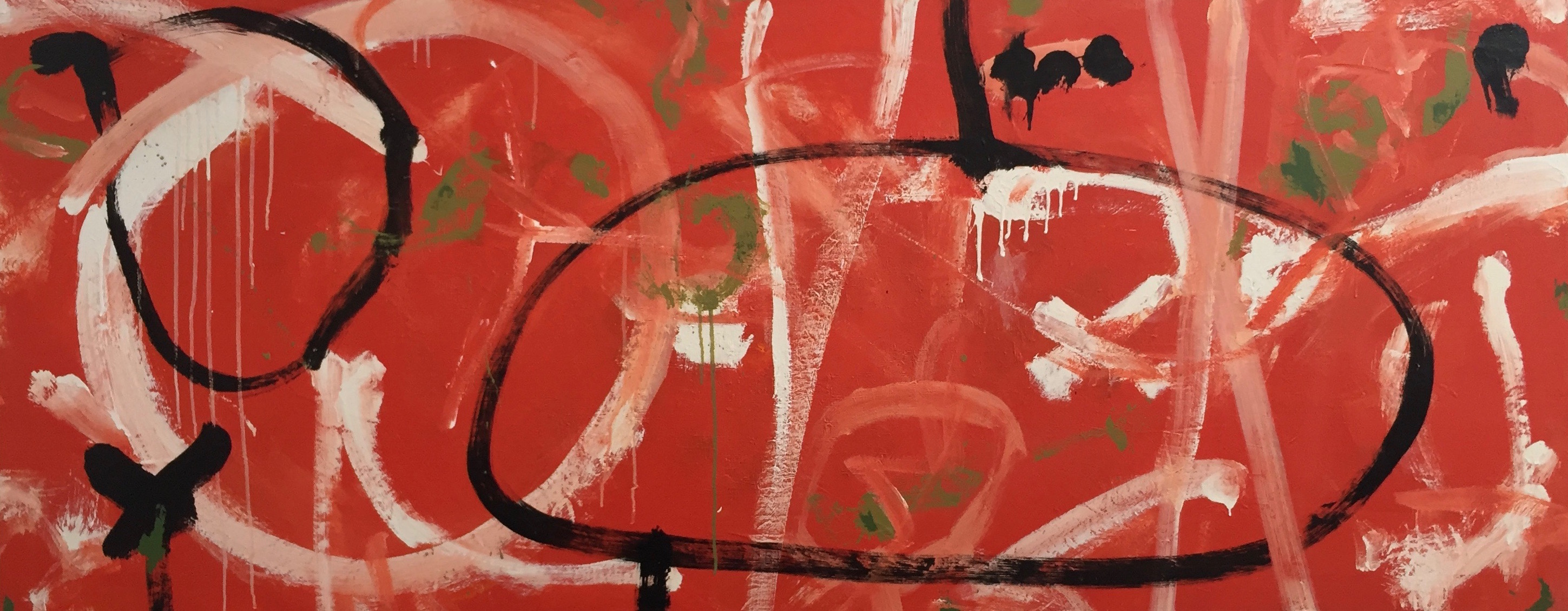 just out of tibooburra (mixed media on canvas) 80cm x 200cm